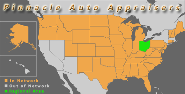 map ohio pinnacle auto appraiser appraisal diminished value